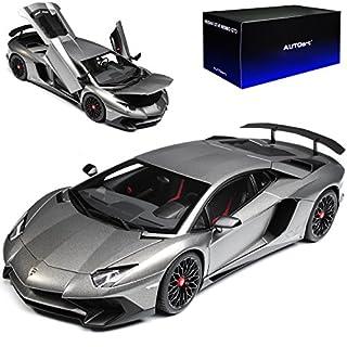 AUTOart Lamborghini Aventador LP750-4 SV Superveloce Coupe Grau 74554 1/18 Modell Auto