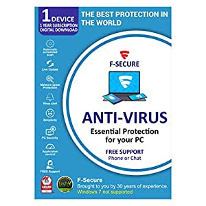 F-Secure Antivirus 1 PC 1 Year (Email Delivery in 2 Hours - No CD)