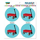 Little Red Wagon Mag-Neato s-TM) Automotive Car Kühlschrank Locker Vinyl Magnet Set