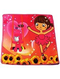 Platinum Kids Bearprint Cotton Handkerchief Assorted colors (Pack of 4)