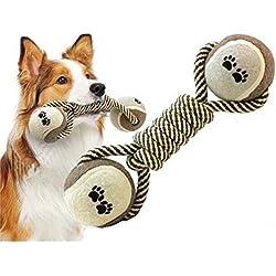 BIGWING Style-Juguete para Perro Perrito Gato Mascota Entrenamiento Moler los Dientes Tenis Hueso