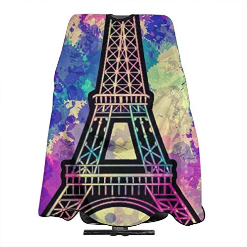 Eiffel Kostüm Tower - Starry Colorful Eiffel Tower Professional Barber Supplies Tool Tie Dye Perfection Cover Cloak Hair Dyed Hair Waterproof Cloth Anti-Static Hairdressing Haircut Apron Hair Dressing Gown Cape
