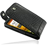 PDair T41 Black / Crocodile Pattern Leather Case for HTC One X S720e / HTC One XL 4G