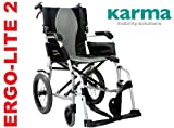 Karma Ergo Lite 2 Ultra Lightweight Transit / Travel Wheelchair - Now Has Detachable Footrests !