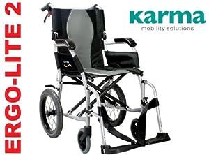 Karma Ergo Lite 2 Ultra Lightweight Transit / Travel Wheelchair - Now Has Detachable Footrests !