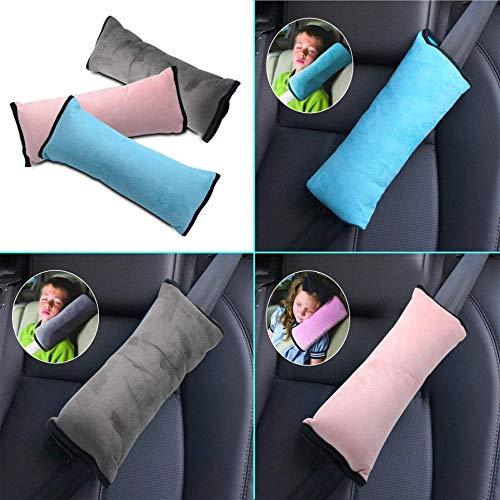 PRINDIY Cuscino per Cintura di Sicurezza per Auto Cuscino per poggiatesta Morbido Morbido per Auto Supporto per poggiatesta Coprisedili per Bambini Cuscini Regolabili per S