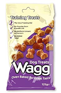 Wagg Oven Baked meaty Dog Training Treats 125g by Wagg