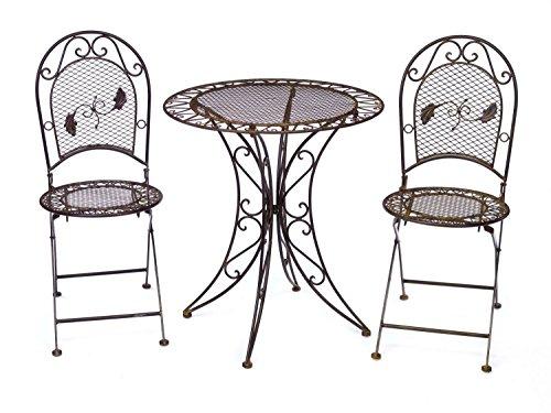 Gartentisch + 2x Stuhl Eisen antique style