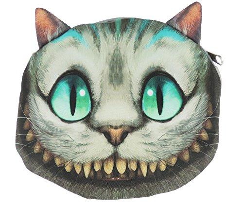 Adorabile gatto Lovers Cat Face small Spalla Borsetta Monster Teeth