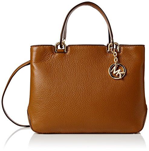 Michael Kors Anabelle Medium Top Zip Tote, Bolso Totes para Mujer, Marrón (Luggage), 23x10x29 cm (W x H x L)