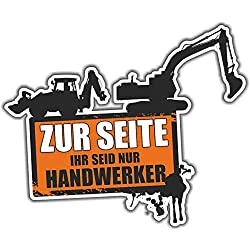 Aufkleber Baggerfahrer Gartenbau Tiefbau Baustelle (Wetterfest)