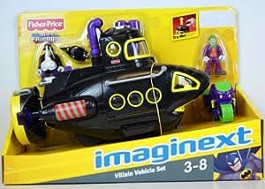 Fisher Price - Imaginext - DC Super Friends - EXCLUSIVE Villain Vehicle Set - Black Penguin Submarine