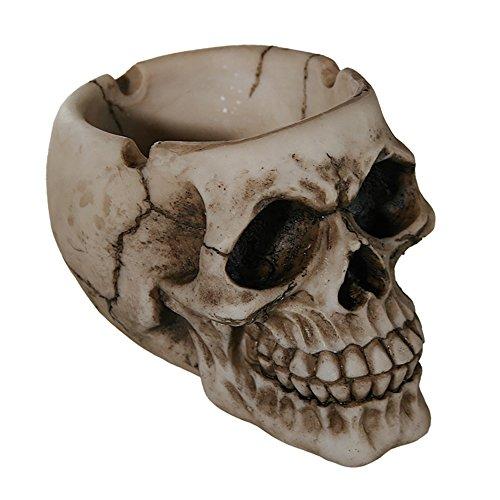 Preis am Stiel 2 x Halloween Totenkopf Aschenbecher | Tischaschenbecher