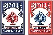 اوراق لعب بايسكل رايدر - 2 احمر و2 ازرق