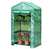 Miniserre Serra da Giardino Balcone Serra in Miniatura - Garden Grow Plants Grow House con Porta avvolgibile e Copertura in PE Rinforzato per Il Controllo della Temperatura, 3/4/5 Tier