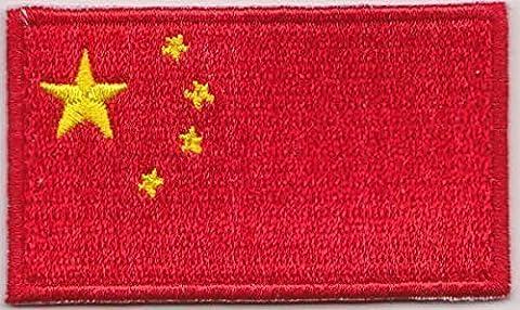 Flaggen Aufnäher Patch China Fahne Flagge - 6 x 3,5 cm