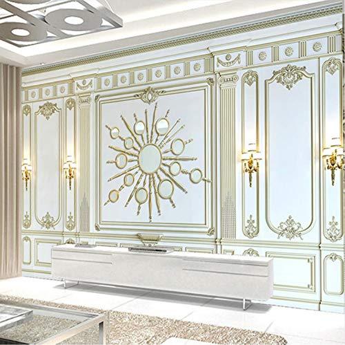 kleber Dekorationen Wandbilder Wand Hintergrund Kühles Europäisches Klassisches Dreidimensionales Goldenes Kasten Wohnzimmer Sofa Kunst Mädchen Tv (W) 250X(H) 175Cm ()