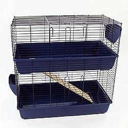 Easipet Un enclos/Cage pour Lapin (intérieure) Disponible en Bleu, Rose, et Noir (Bleu)
