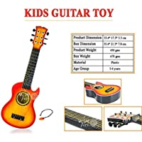 WISHKEY 6 String Plastic Guitar Toy 21 inch with Pick (Orange)
