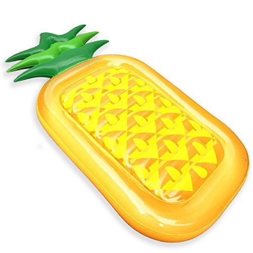 Lanlan Giant Inflatable Pineapple Float Sun Lounger Lilo Swimming Pool Beach Air Bed for Children and Adults