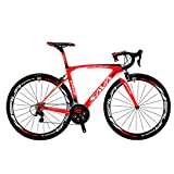 Vélos de Route Carbone, SAVA 700C Velo de Course Homme 22 Vitesses Shimano 105 5800 Group et Selle fizik Route (Rouge&Blanc, 520)...