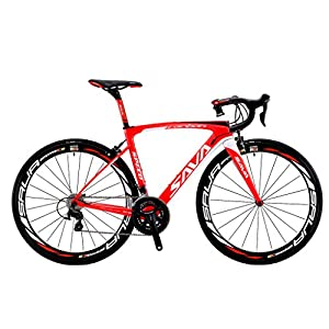 51FQkN%2BLqtL. SS300  - SAVADECK Road Bikes, HERD 6.0 T800 Carbon Fiber 700C Road Bike Racing Bike SHIMANO 105 7000 Groupset 22 Speed Carbon Wheelset Seatpost Fork Ultra-light 18.3 lbs Bicycle
