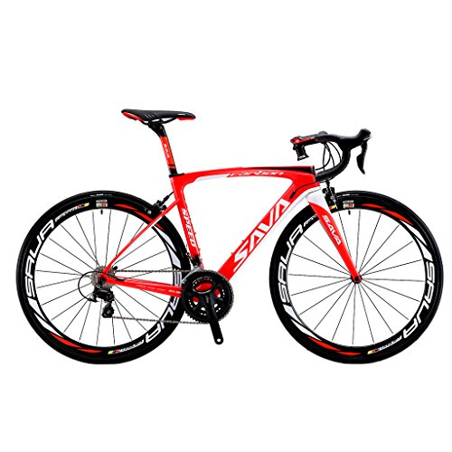 51FQkN%2BLqtL. SS500  - SAVADECK Road Bikes, HERD 6.0 T800 Carbon Fiber 700C Road Bike Racing Bike SHIMANO 105 7000 Groupset 22 Speed Carbon Wheelset Seatpost Fork Ultra-light 18.3 lbs Bicycle