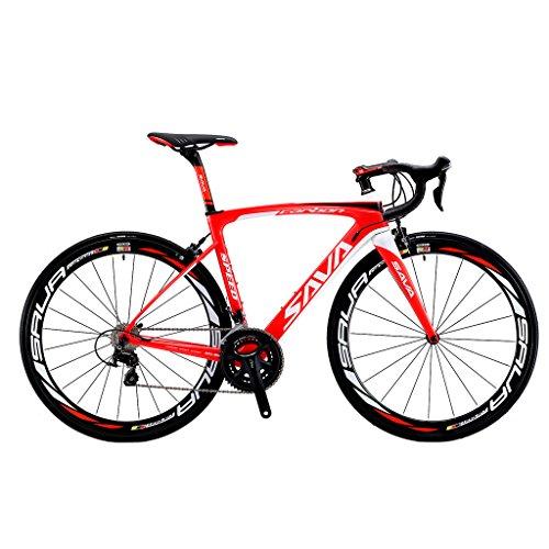 SAVADECK HERD6.0 700C Bicicleta de Carretera de Fibra de Carbono Shimano 105 R7000 22S Sistema de transmisión Michelin Neumático Fizi:k...