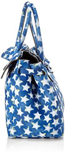 save my bag Miss, Borsa a Mano Donna, 34x29x18 cm (W x H x L) Blu (Stars)