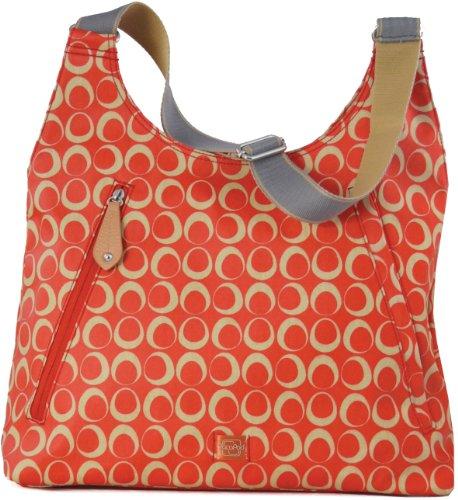 PacaPod bb0185–Handtasche Almora (rot/creme) (Stoff-handtaschen Creme)