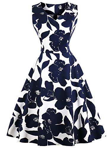 FAIRY COUPLE 50er Rockabilly Kleid V-Ausschnitt - 28,95 €