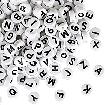 Acrylic Letter Beads Coated in Silver Metal Finish for High Quality Results 6 x 6mm DIY Bracelet 1000Pcs Alphabet Letter Beads by Kurtzy Necklace Making and Kids Jewelry Craft Beads
