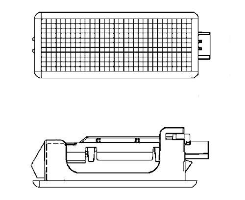 HELLA 2XT 010 622-101Innenraumleuchte, Fußraumleuchte LED, Innenraumlicht, 12 V, weiß