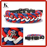 Paracord Halsband, Paracordhalsband, Hundehalsband, Halsband Paracord, Halsband maritim, hundehalsband Maritim, Hundehalsband Anker, Floating Colors