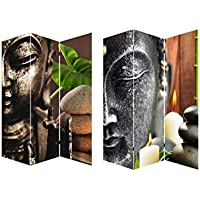 Biombo Mod. Buda Zen Wabi-Sabi, fotoimpresión sobre lienzo reforzado, montado sobre bastidores de madera.
