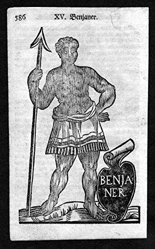Afrika Tracht (Benjaner - Benin Afrika Africa Tracht Trachten costumes Holzschnitt antique)