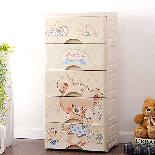 TIED RIBBONS Multipurpose Modular 5 Drawer Kids Chest Cabinet Wardrobe for Home, Kids Room, Child Cloth, Toys Storage