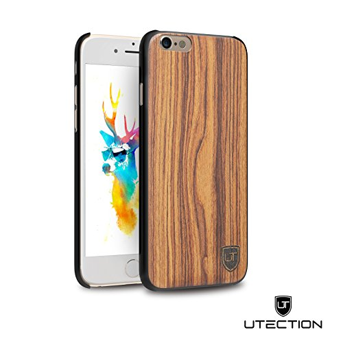 UTECTION Holzhülle Cover für Apple iPhone 6 Plus / 6s Plus ** Eco Echt Holz - Ultra-Slim ** Einzigartiges Desgin ** Perfekte Passgenauigkeit ** Woodcase in Walnussholz (Tech Armor Apple Iphone 6 Fall)