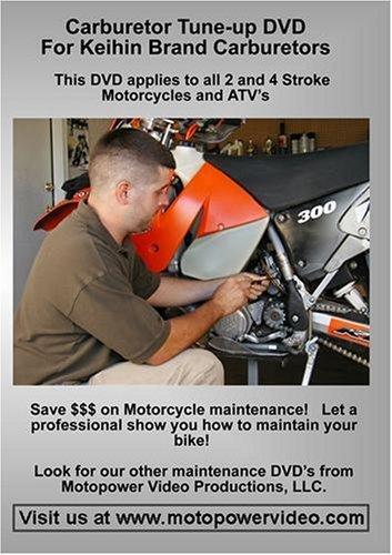 Motorcycle and ATV Carburetor Tune-up DVD For Keihin Carburetors