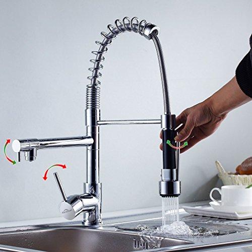Auralum-Monomando-Grifo-de-Cocina-Agua-Fra-Y-Caliente-Grifos-para-fregadero-Extraible-360rotacin-3-Aos-Garanta-cartucho-cermica