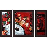 Wens 'Folks Party' Wall Art (MDF, 30 cm x 34 cm x 1.5 cm , WSP-4280)