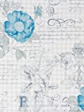 Tapete Rasch Textil Blumen blau grau Vintage Diary 255118