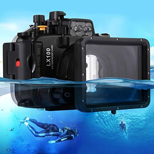 Footprintse PULUZ Unterwassergehäuse Wasserdichtes Kameragehäuse für Panasonic LUMIX DMC-LX100-Farbe: Schwarz
