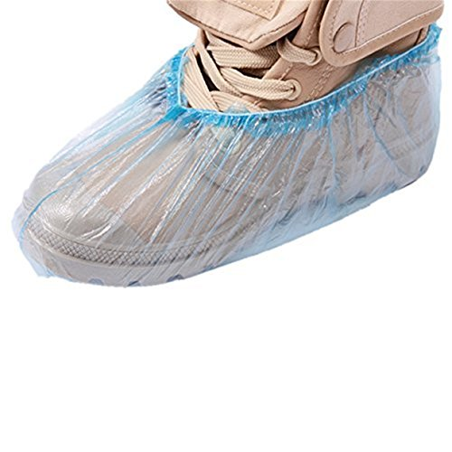 Lalang 100 pcs Einweg Überschuhe Überzieher Schuhüberzieher Shoe Cover Hülle Einmalschuhe Überziehschuhe Einweg Zuhause sauber Schuhüberzug