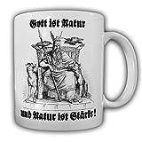 Allvater Odin Gott ist Natur und Natur ist Stärke Wikinger Germanen Wotan Odins Raben Edda Asen Wiking Walhalla Met - Tasse Kaffee Becher #15394