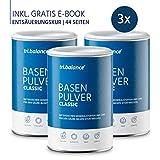 tri.balance Basenpulver Classic 300 g - 3er Pack inkl. E-Book Entsäuerungskur I Magnesium Kalium Zink zum Säure-Basen-Ausgleich I vegan