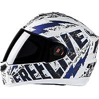 Steelbird SBA-1 Free Live Matt White with Blue with Plain visor,580mm