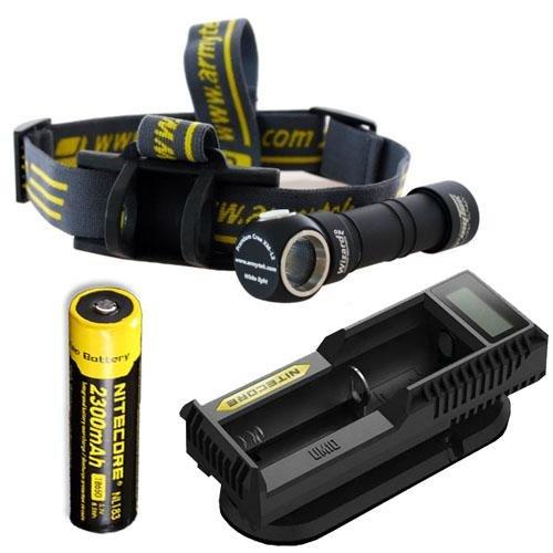 Preisvergleich Produktbild Armytek Wizard Pro V2. XM-L2 Headlamp w / NL183 Battery & UM10 Charger