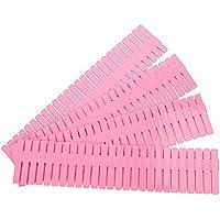 BESTOMZ Organizador de Cajones de Plástico Ajustable DIY para Almacenamiento para Aparador Cocina Dormitorio32.4 x 7cm 4 Piezas (Rosado)