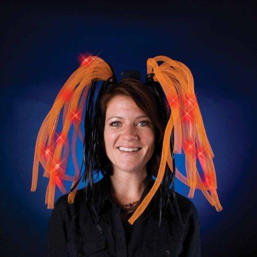 Light Show Dreads Costume LED Headband: Orange